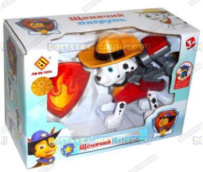 Щенячий патруль' Маршалл в шляпе +значок. 8-10см. Новая серия. (пластик).