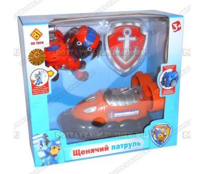 Набор 'Летающий патруль' щенок Зума. Фигурка, машина +значок (пластик).