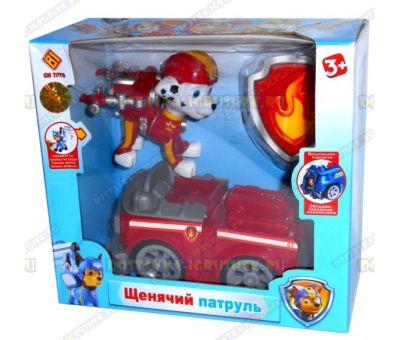 Набор 'Летающий патруль' щенок Маршалл. Фигурка, машина +значок (пластик).