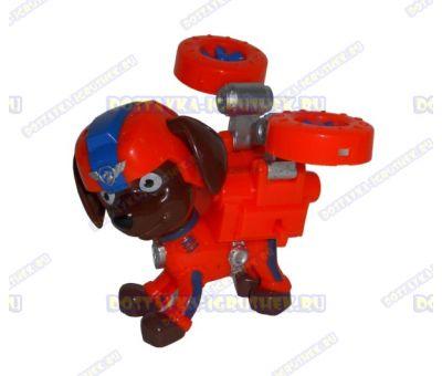 Набор 'Летающий патруль' щенок Зума. Фигурка и значок (пластик).