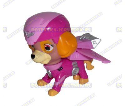 Набор 'Летающий патруль' щенок Скай. Фигурка и значок (пластик).