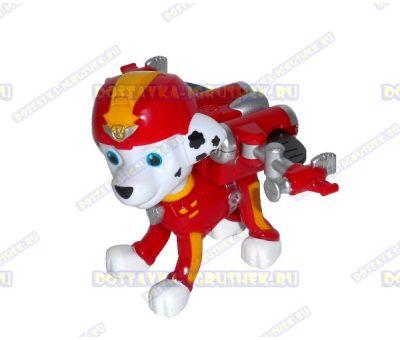 Набор 'Летающий патруль' щенок Маршалл. Фигурка и значок (пластик).