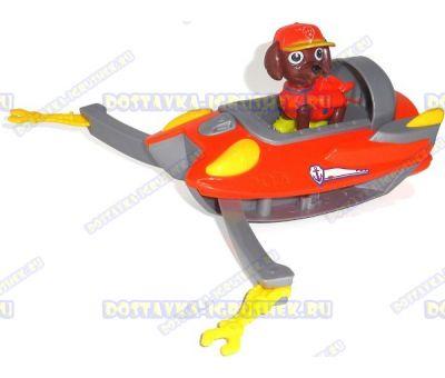 Набор Щенячий патруль Зума, 'Морские спасатели' ~6см. Фигурка, машина +значок (пластик).