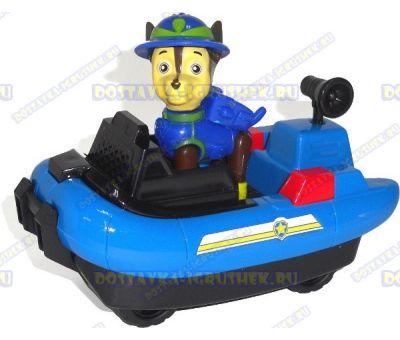 Набор Щенячий патруль Чейз, 'Морские спасатели' ~6см. Фигурка, машина +значок (пластик).