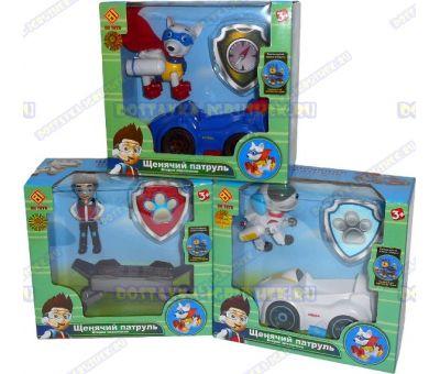 Комплект 'Аполло, Робопёс, Райдер ~8см.' 2-ое поколение. фигурки, машины +значки (пластик).