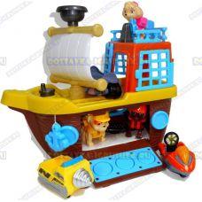 Пиратский корабль щенячьего патруля +3 героя с машинами.