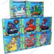 Комплект 'Щенячий патруль 2-ое поколение (HERO DOGS)' 8 Фигурок, машины +значки (пластик).