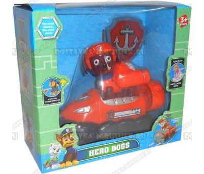 Набор 'Щенячий патруль Зума, 2-ое поколение (HERO DOGS)' Фигурка, машина +значок (пластик).