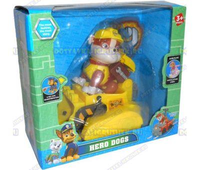 Набор 'Щенячий патруль Руби, 2-ое поколение (HERO DOGS)' Фигурка, машина +значок (пластик).