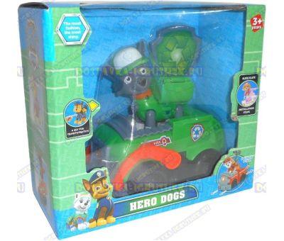 Набор 'Щенячий патруль Рокки, 2-ое поколение (HERO DOGS)' Фигурка, машина +значок (пластик).