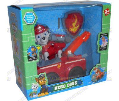 Набор 'Щенячий патруль Маршалл, 2-ое поколение (HERO DOGS)' Фигурка, машина +значок (пластик).