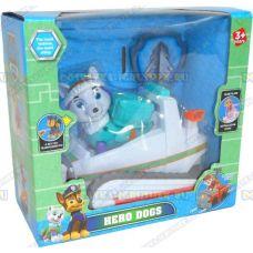 Набор 'Щенячий патруль Эверест, 2-ое поколение (HERO DOGS)' Фигурка, снегоход +значок (пластик).