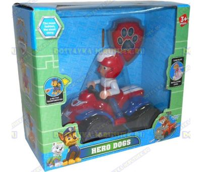 Набор 'Щенячий патруль Райдер, 2-ое поколение (HERO DOGS)' Фигурка, машина +значок (пластик).