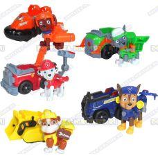 Комплект 'Щенячий патруль 2-ое поколение (HERO DOGS)' 5 Фигурок, машины +значки (пластик).