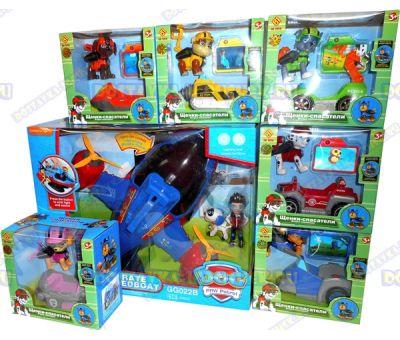 """Набор """"БОЛЬШОЙ пиратский (космический) катер"""", Райдер и Робопёс + 6 героев с машинами."""