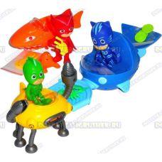 Набор 'Герои в масках - морские приключения' 3 героя и 3 машины.