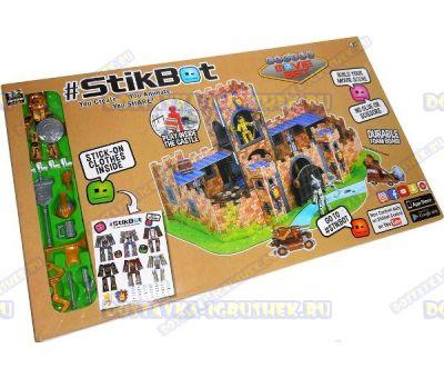 Набор Stikbot 'Замок' (замок, фигурка, аксессуары, оружие) +наклейки.