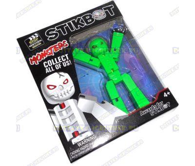 """Стикбот (Stikbot серия """"Monsters"""") фигурка зелёная"""