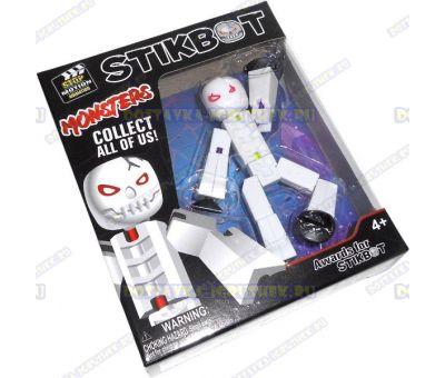 """Стикбот (Stikbot серия """"Monsters"""") фигурка белая"""