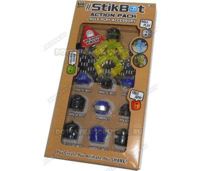 Стикбот (Stikbot) аксессуары (головные уборы) +фигурка.