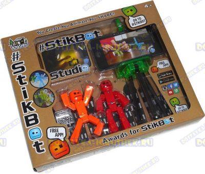 Стикбот (Stikbot) аксессуары (штатив) +2 фигурки.