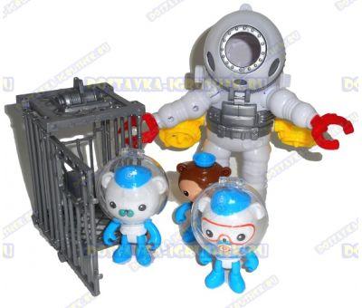 Набор 'Октонавты - костюм аквалангиста + 3 героя и клетка'