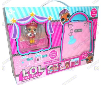 Раскладной домик L.O.L. в сумочке + фигурка и аксессуары.