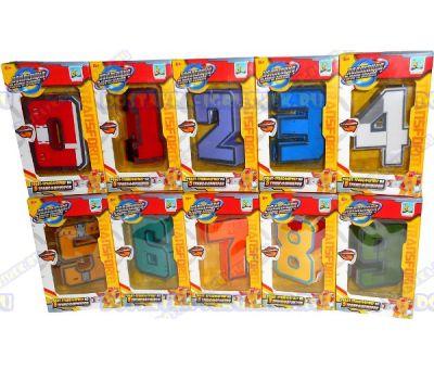 Трансботы комплект 10 цифр (10см.)